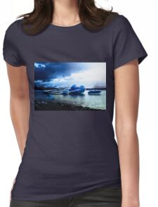 Ice Blue Womens Fitted T-Shirt