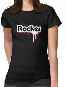 Rocker Graffiti Womens Fitted T-Shirt