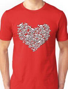 Emo Skull Hearts Unisex T-Shirt