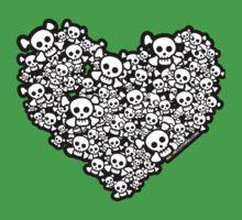 Emo Skull Love Kids Clothes