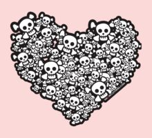 Emo Skull Love by rawrclothing