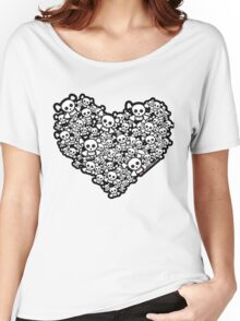 Emo Skull Love Women's Relaxed Fit T-Shirt