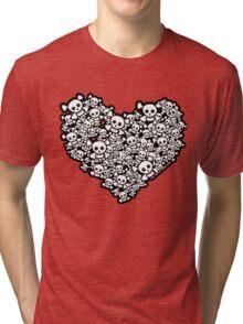 Emo Skull Love Tri-blend T-Shirt