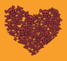 Cute Emo Skull Heart by rawrclothing