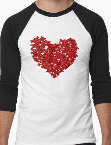 Cute Emo Skull Heart Men's Baseball ¾ T-Shirt