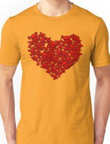 Cute Emo Skull Heart Unisex T-Shirt