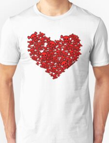 Cute Emo Skull Heart Unisex T-Shirt