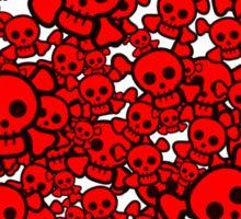 Cute Emo Skull Heart Sticker