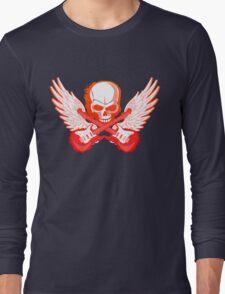 Rock Music Skull Guitar Long Sleeve T-Shirt