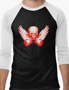 Rock Music Skull Guitar Men's Baseball ¾ T-Shirt