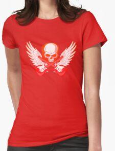 Rock Music Skull Guitar Womens Fitted T-Shirt