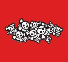 Cute Skulls One Piece - Long Sleeve