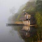 Boathouse in the Mist by Jonnyfez