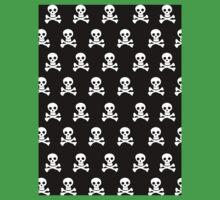 Black Skulls One Piece - Short Sleeve