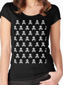 Black Skulls Women's Fitted Scoop T-Shirt