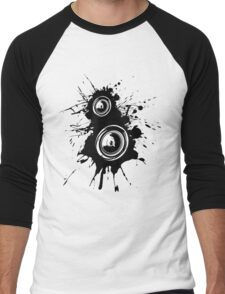 Speaker Splatter Men's Baseball ¾ T-Shirt