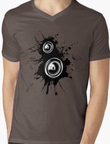 Speaker Splatter Mens V-Neck T-Shirt