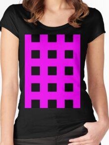 Pink And Black Crosses Women's Fitted Scoop T-Shirt