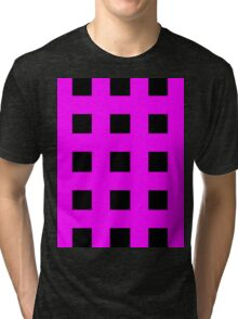 Pink And Black Crosses Tri-blend T-Shirt