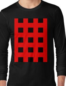 Red And Black Crosses Long Sleeve T-Shirt