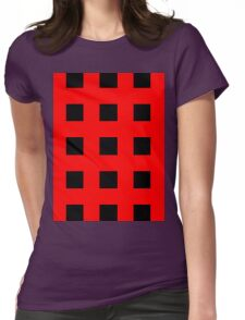 Red And Black Crosses Womens Fitted T-Shirt