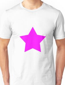 Pink Emo Star Unisex T-Shirt