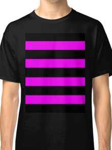 Pink And Black Stripes Classic T-Shirt