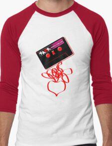 Retro Cassette Tape Love Men's Baseball ¾ T-Shirt