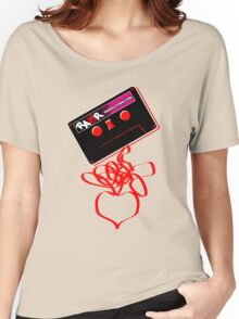 Retro Cassette Tape Love Women's Relaxed Fit T-Shirt
