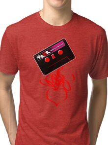 Retro Cassette Tape Love Tri-blend T-Shirt