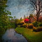 Cottage with Rhodies and Stream by JohnOdz