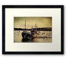 The Fishing Boat 'COMRADES' Coming Home With A Catch Framed Print