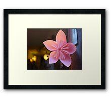 paper star flower Framed Print