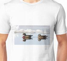 Wood Ducks on river Unisex T-Shirt
