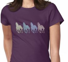 Running Horses Cantering Colorful Horse Love Womens Fitted T-Shirt