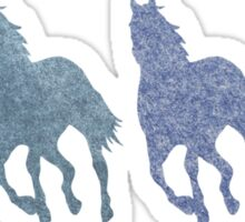 Running Horses Cantering Colorful Horse Love Sticker