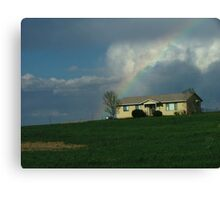 Rainbow House Canvas Print