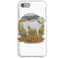 White lab loyalty  iPhone Case/Skin