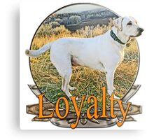 White lab loyalty  Metal Print