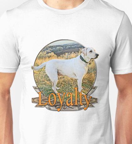 White lab loyalty  Unisex T-Shirt