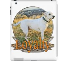 White lab loyalty  iPad Case/Skin