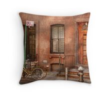 Bike - NY - Urban - Two complete bikes Throw Pillow