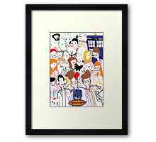 Paint Doktah Who Poster Framed Print