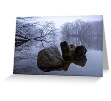 Rock and Stump Greeting Card