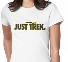 Just TREK (Black) Womens Fitted T-Shirt