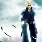 Cloud Final Fantasy iPhone Case by squidkid