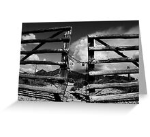 Locked Up in Nowhere Landscape Greeting Card