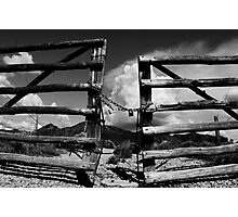 Locked Up in Nowhere Landscape Photographic Print