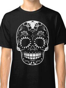 White-Sugar Skull Classic T-Shirt