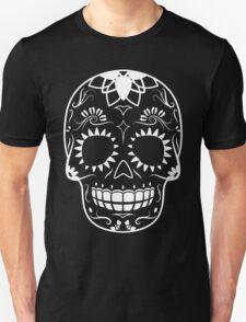 White-Sugar Skull T-Shirt